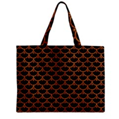 Scales3 Black Marble & Rusted Metal (r) Zipper Mini Tote Bag