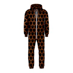 Scales3 Black Marble & Rusted Metal (r) Hooded Jumpsuit (kids)