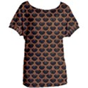 SCALES3 BLACK MARBLE & RUSTED METAL (R) Women s Oversized Tee View1