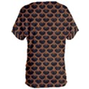 SCALES3 BLACK MARBLE & RUSTED METAL (R) Women s Oversized Tee View2