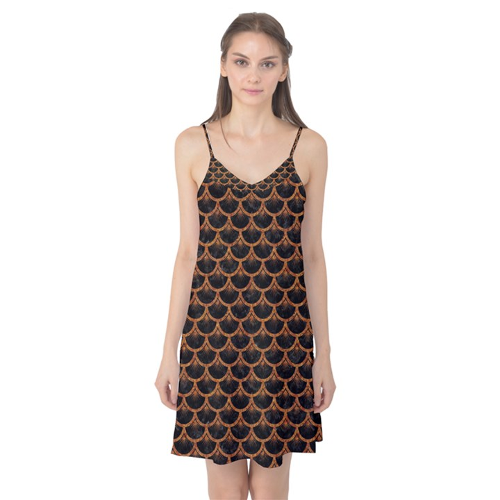SCALES3 BLACK MARBLE & RUSTED METAL (R) Camis Nightgown