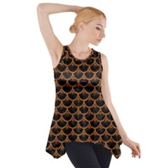 Scales3 Black Marble & Rusted Metal (r) Side Drop Tank Tunic