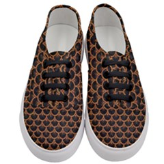 Scales3 Black Marble & Rusted Metal (r) Women s Classic Low Top Sneakers