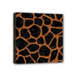 SKIN1 BLACK MARBLE & RUSTED METAL Mini Canvas 4  x 4