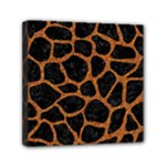 SKIN1 BLACK MARBLE & RUSTED METAL Mini Canvas 6  x 6