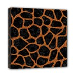 SKIN1 BLACK MARBLE & RUSTED METAL Mini Canvas 8  x 8