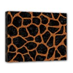 SKIN1 BLACK MARBLE & RUSTED METAL Canvas 14  x 11