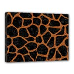 SKIN1 BLACK MARBLE & RUSTED METAL Canvas 16  x 12