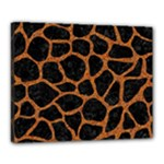 SKIN1 BLACK MARBLE & RUSTED METAL Canvas 20  x 16