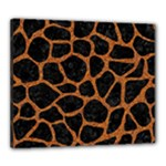 SKIN1 BLACK MARBLE & RUSTED METAL Canvas 24  x 20