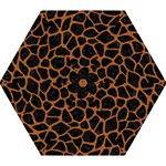 SKIN1 BLACK MARBLE & RUSTED METAL Mini Folding Umbrellas