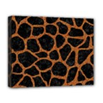 SKIN1 BLACK MARBLE & RUSTED METAL Deluxe Canvas 20  x 16