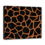 SKIN1 BLACK MARBLE & RUSTED METAL Deluxe Canvas 24  x 20