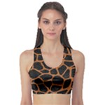 SKIN1 BLACK MARBLE & RUSTED METAL Sports Bra