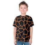 SKIN1 BLACK MARBLE & RUSTED METAL Kids  Cotton Tee