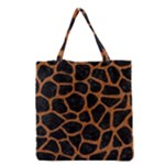 SKIN1 BLACK MARBLE & RUSTED METAL Grocery Tote Bag