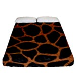 SKIN1 BLACK MARBLE & RUSTED METAL Fitted Sheet (Queen Size)