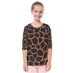 SKIN1 BLACK MARBLE & RUSTED METAL Kids  Quarter Sleeve Raglan Tee
