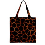 SKIN1 BLACK MARBLE & RUSTED METAL Zipper Grocery Tote Bag