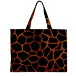 SKIN1 BLACK MARBLE & RUSTED METAL Zipper Mini Tote Bag