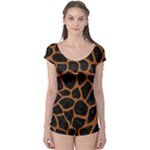 SKIN1 BLACK MARBLE & RUSTED METAL Boyleg Leotard