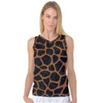 SKIN1 BLACK MARBLE & RUSTED METAL Women s Basketball Tank Top