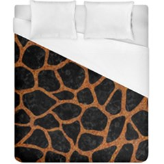 Skin1 Black Marble & Rusted Metal Duvet Cover (california King Size)