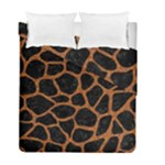 SKIN1 BLACK MARBLE & RUSTED METAL Duvet Cover Double Side (Full/ Double Size)