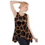 SKIN1 BLACK MARBLE & RUSTED METAL Side Drop Tank Tunic