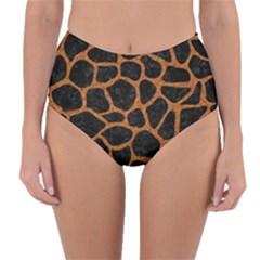 Skin1 Black Marble & Rusted Metal Reversible High Waist Bikini Bottoms