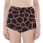 SKIN1 BLACK MARBLE & RUSTED METAL High-Waisted Bikini Bottoms