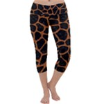 SKIN1 BLACK MARBLE & RUSTED METAL Capri Yoga Leggings