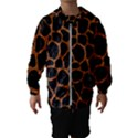 SKIN1 BLACK MARBLE & RUSTED METAL Hooded Wind Breaker (Kids) View1