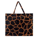 SKIN1 BLACK MARBLE & RUSTED METAL Zipper Large Tote Bag