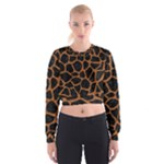 SKIN1 BLACK MARBLE & RUSTED METAL Cropped Sweatshirt