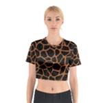 SKIN1 BLACK MARBLE & RUSTED METAL Cotton Crop Top