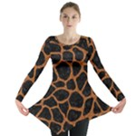 SKIN1 BLACK MARBLE & RUSTED METAL Long Sleeve Tunic
