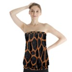 SKIN1 BLACK MARBLE & RUSTED METAL Strapless Top