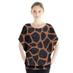 SKIN1 BLACK MARBLE & RUSTED METAL Blouse