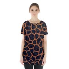 Skin1 Black Marble & Rusted Metal Skirt Hem Sports Top
