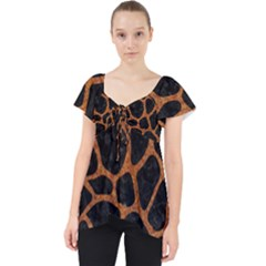SKIN1 BLACK MARBLE & RUSTED METAL Lace Front Dolly Top