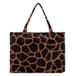 SKIN1 BLACK MARBLE & RUSTED METAL Medium Tote Bag
