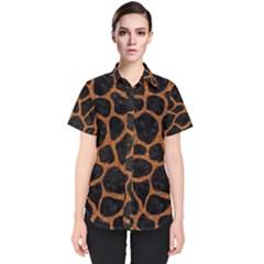 SKIN1 BLACK MARBLE & RUSTED METAL Women s Short Sleeve Shirt