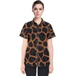 SKIN1 BLACK MARBLE & RUSTED METAL Women s Short Sleeve Shirt