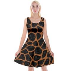 SKIN1 BLACK MARBLE & RUSTED METAL Reversible Velvet Sleeveless Dress