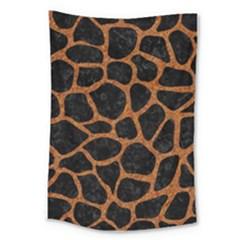 Skin1 Black Marble & Rusted Metal Large Tapestry by trendistuff