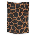 SKIN1 BLACK MARBLE & RUSTED METAL Large Tapestry