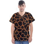 SKIN1 BLACK MARBLE & RUSTED METAL Men s V-Neck Scrub Top