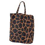 SKIN1 BLACK MARBLE & RUSTED METAL Giant Grocery Zipper Tote