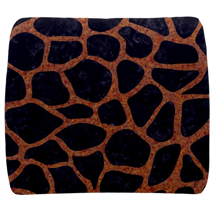 SKIN1 BLACK MARBLE & RUSTED METAL Back Support Cushion